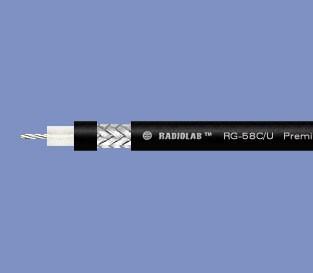 Radiolab RG-58C/U PVC (black)